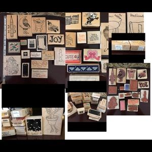 Lot of Ink Stamps crafts cards